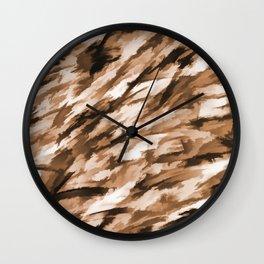 Beige Designer Camo Wall Clock
