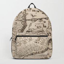 Vintage Map of Nuremberg Germany (1642) Backpack