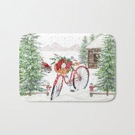 Winter Bicycle Bath Mat