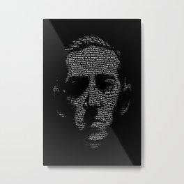 H P Lovecraft Necronomicon Portrait Metal Print