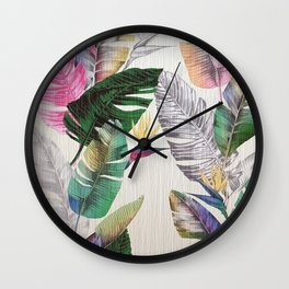 TROPICAL PLANTS1 Wall Clock