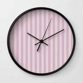 Simple grey pink stripes . Wall Clock