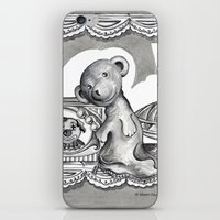 teddy bear iPhone & iPod Skins featuring Teddy by Alison Day Designs
