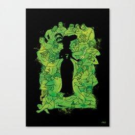 Absinth black Canvas Print