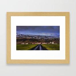 Eyjafjallajökull Volcano  Iceland Framed Art Print