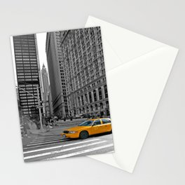 NYC - Yellow Cabs - Trinity Place Stationery Cards