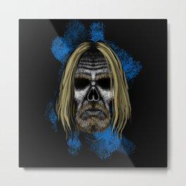 Iggy style Errorface Skull Metal Print