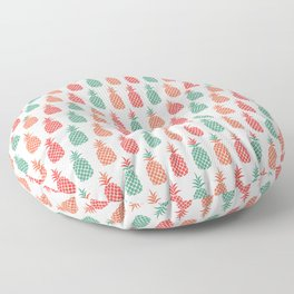 Tropical Pineapple Print Floor Pillow