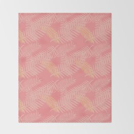 Tropik Pink Throw Blanket
