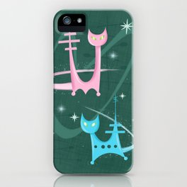 Atomic Rocket Cats In Space iPhone Case