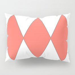 LIVING CORAL - LARGE HARLEQUIN DESIGN Pillow Sham