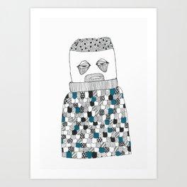 The owl man Art Print