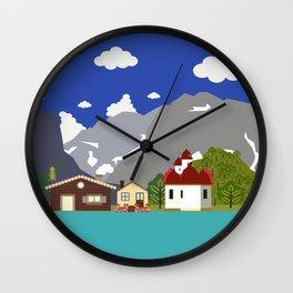 Bavarian mountain church Wall Clock