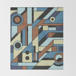 De Stijl Abstract Geometric Artwork 3 Throw Blanket