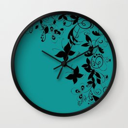 PTSD is Real: Floral Design Wall Clock