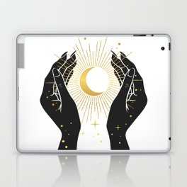 Gold La Lune In Hands Laptop & iPad Skin