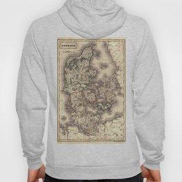 Map Of Denmark 1819 Hoody