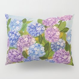 Beautiful Hydrangeas flowers nature purple and blue colors Pillow Sham