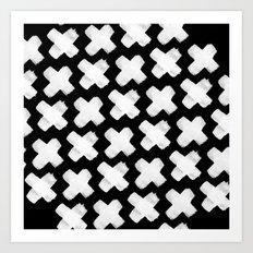 Black xxx Art Print
