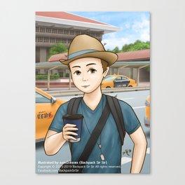 Backpack Sir Sir at Taipei Main Station Canvas Print