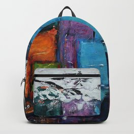 TETRIS, Abstract  Acrylic Painting, colorful mosaic Backpack
