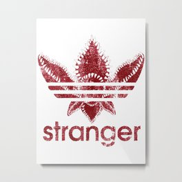 stranger thing adidass shirt Metal Print