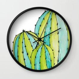 Round Cactus Wall Clock