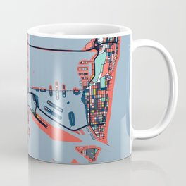 Miami Florida Abstract Map Art Coffee Mug