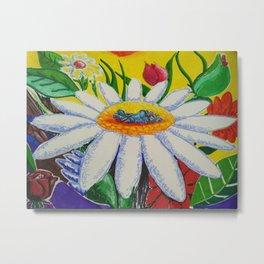 Amantes en flor Metal Print