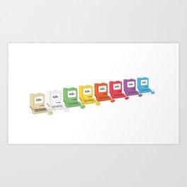 8 Macs in a Row Art Print