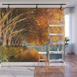 Autumn Lake Wall Mural