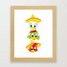 The Three Caballeros Framed Art Print