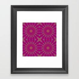 Magenta Pinwheel Flowers Framed Art Print