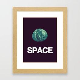 It's Space. Framed Art Print
