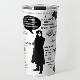 Sherlock Holmes Quotes Travel Mug