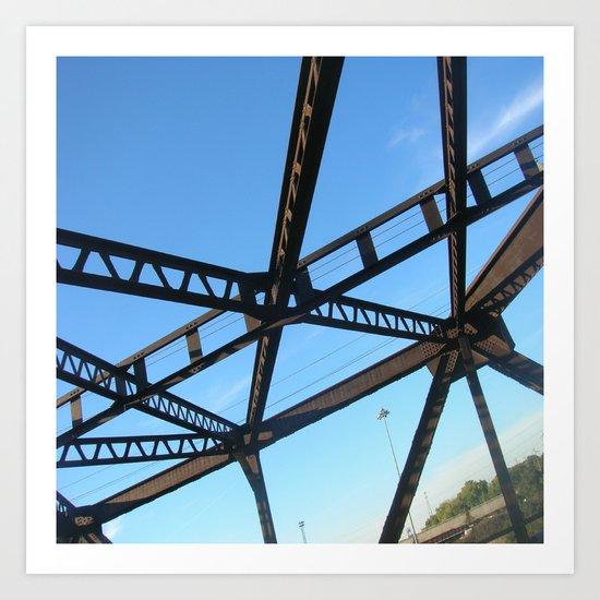 Bridge in Mpls Art Print