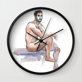 MARK, Nude Male by Frank-Joseph Wall Clock