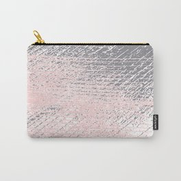 Pink Pastel and Grey Background Carry-All Pouch