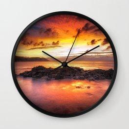 Sunrise at Langland Bay Wall Clock