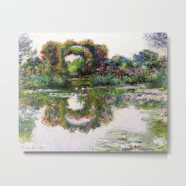 "Claude Monet, "" Flowering Arches "" Metal Print"