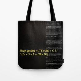 Sleep quality Tote Bag