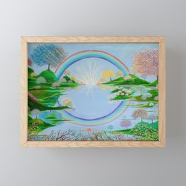 The Glory of The Lord Framed Mini Art Print