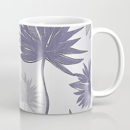 Palms 3 In Shades Of Plum And Steel Coffee Mug