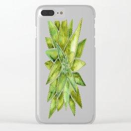 Aloe Vera – Green Palette Clear iPhone Case