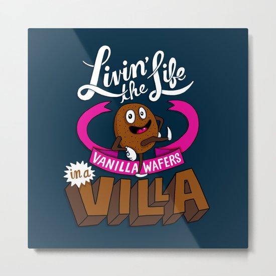 Livin' the Life, Vanilla Wafers in a Villa Metal Print