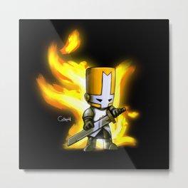 One Orange Knight Metal Print