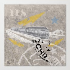 Train Of Thought Derailed Canvas Print