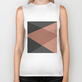 Black , brown ,abstract , geometric Biker Tank