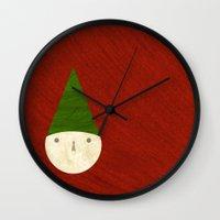 elf Wall Clocks featuring Elf by Inmyfantasia