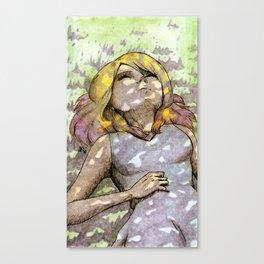 Nap Under The Tree Canvas Print